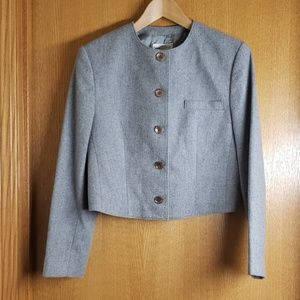 Vintage Gray Pendleton Wool Wmns Crop Jacket Sz 10